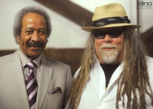 Allen Toussaint and Papa Mali, backstage at Musicians for Obama Fundraiser, May 2012