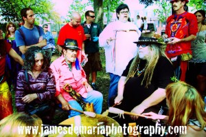 Dr John and Papa Mali join a sacred drum circle and healing ceremony for the Gulf of Mexico in Congo Square, April 2012