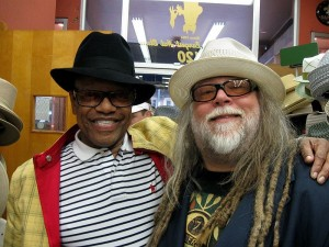 Soul legend, Bobby Womack and I pick out new hats on my birthday, May 6 2011.