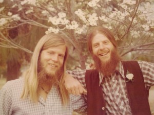 Me (on the left) and my brother, Ford Welbourne in 1975. Seven years my elder, he turned me on to so much great music when I was young. As we got older he would share concepts and ideology that might have taken me much longer to grasp, had I been on my own. I looked up to him then and still do.